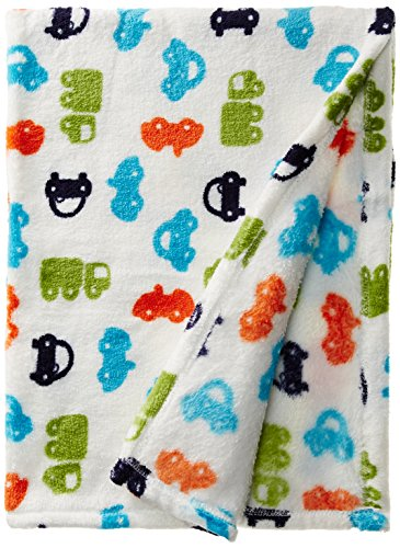 Lovespun Baby-Boys Newborn Car Print Plush Blanket - 1