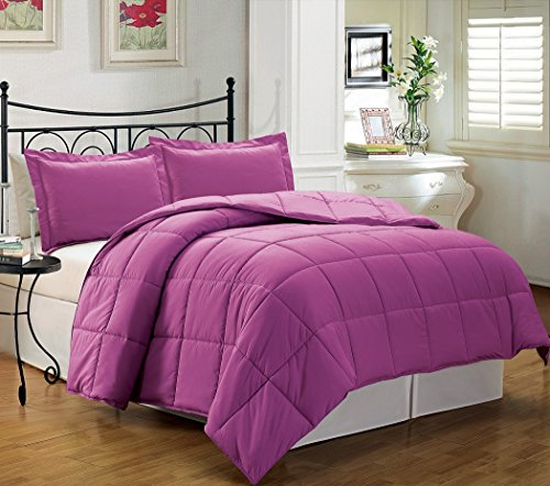 Why Choose Chezmoi Collection 2-piece Down Alternative Comforter Set Twin, Orchid Purple