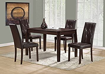 """CAPPUCCINO VENEER 32""""X 48"""" DINING TABLE (SIZE: 47L X 32W X 30H)"""