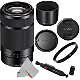 Sony E 55-210mm (SEL55210) F4.5-6.3 OSS Lens for Sony E-Mount Cameras (Black) With UV Filter, Cleaning Pen & CS Microfiber Cleaning Cloth