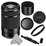 Sony-E-55-210mm-SEL55210-F45-63-OSS-Lens-for-Sony-E-Mount-Cameras-Black-With-UV-Filter-Cleaning-Pen-CS-Microfiber-Cleaning-Cloth