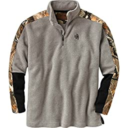 Legendary Whitetails Men\'s Big Game Tracker 1/4 Zip Thicket Heather XX-Large Tall