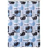 Allure Home Creations Whale Watch Printed on Poly Duck Shower Curtain