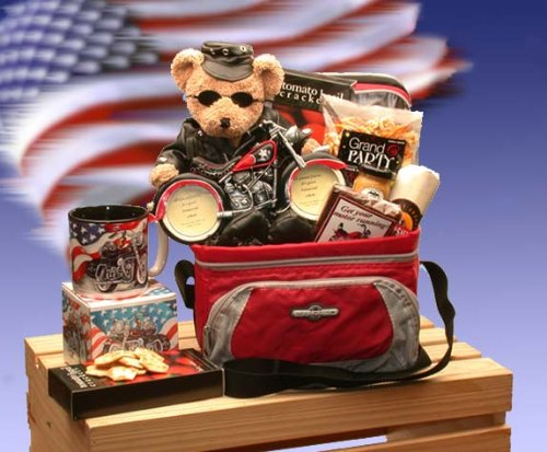 Biker Gift: Gourmet Snack Food Gift Basket -Great