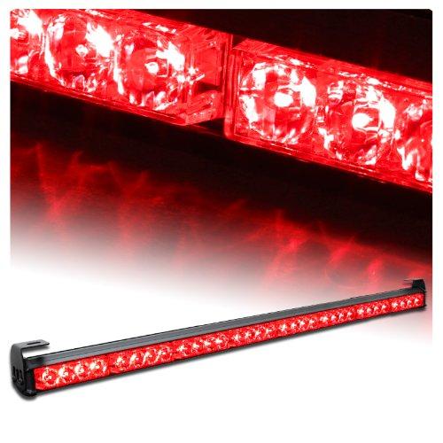 """35.5"""" Led Traffic Adviser / Advising Emergency Warning Strobe Light Bar - Red"""