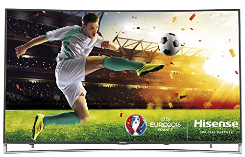 Hisense LTDN65XT910 171,2 cm (65 Zoll) Curved Fernseher (Ultra HD, Triple Tuner, DVB-T2 HD, Smart TV) schwarz