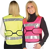 HyVIZ Adjustable Tabard - pink/black - adult