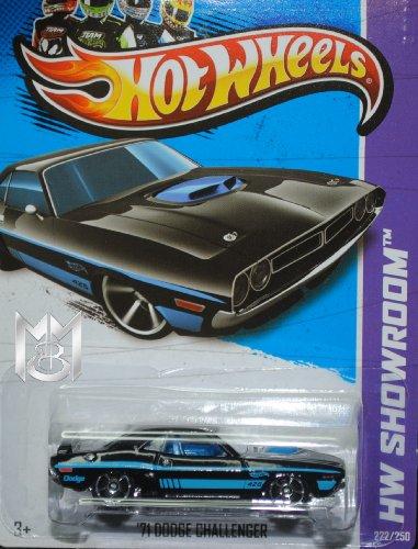 Hot Wheels 2013 '71 Dodge Challenger Black/Blue Hw Showroom 222/250