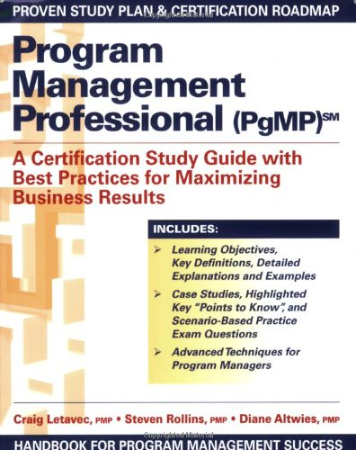 pgmp program management professional exam study guide pdf