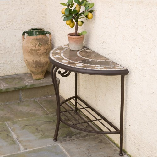 Cheap Alfresco Home Basilica 39 in. Half Moon Console Table (21-67025)