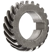 Boston Gear H2420R Plain Helical Gear, 45 Degree Helix, 14.5 Degree Pressure Angle, 0.500 Bore, 24 Pitch, 20 Teeth, Steel, RH