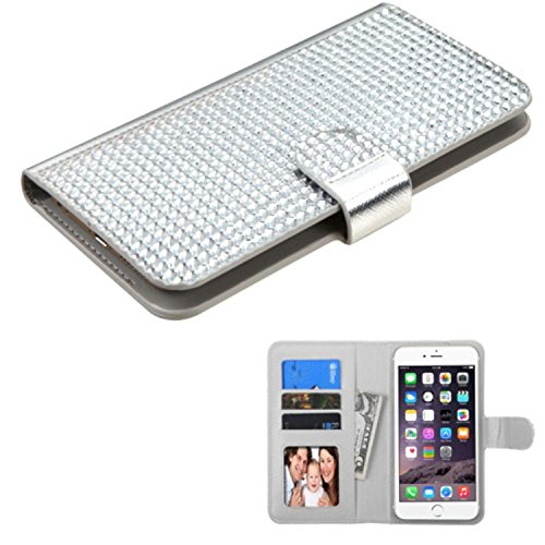 MyBat Wallet Case for Apple iPhone 6 Plus, ASUS Zenfone 2 & Other Android Devices - Retail Packaging - Silver