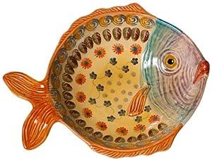 Modigliani festa fish shaped serving bowl for Fish shaped bowl