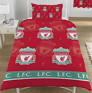 Liverpool Football Club FC Quilt/Duvet Cover Bedding Set (Single Bed) (Red)