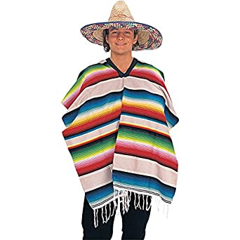 Mexican Serape Poncho