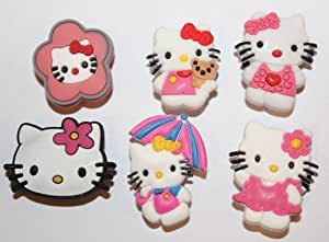 Hello Kitty mix Shoe Charms Set of 6 - Jibbitz / Croc Style