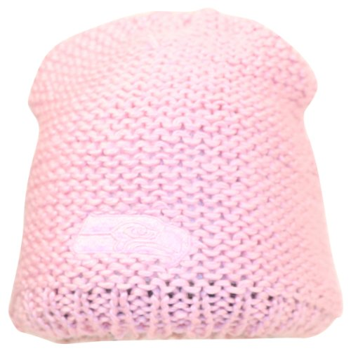 Seattle Seahawks Women's Crochet Pink Tonal Winter Knit Hat / Beanie at Amazon.com