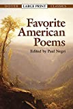 Favorite American Poems (Dover Large Print Classics)