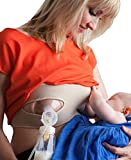 Hands Free Pumping Bra - by Pump Strap - Best One Size handsfree pumping bra! - Beige - (XS - S - M - L - XL - XXL)