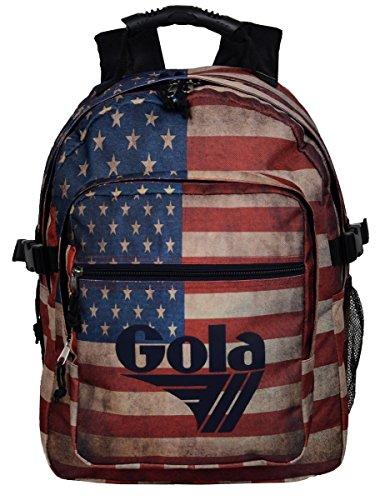 Zaino Gola Brody Full Vintage USA - 42x32x14+6 - CUB158 - Navy/Black/Multi