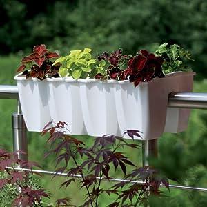 Prosperplast fioriera per ringhiera balconiera lunghezza - Ringhiera giardino ...