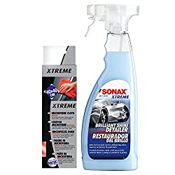 Sonax Combo of Xtreme Brilliant Shine Detailer and Xtreme Microfibre Cloth