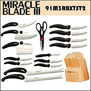 Miracle Blade III 16 Piece Knife and Block Set Miracleblade