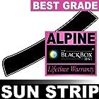 Chevy Avalanche 12 2012 Precut Sun Strip - Super High Heat Rejection Black Box Alpine - SS5