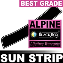 Toyota Sienna 00 2000 Precut Sun Strip - Super High Heat Rejection Black Box Alpine - SS50