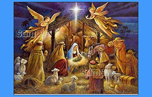 Holy Nativity edible IMAGE CAKE TOPPER