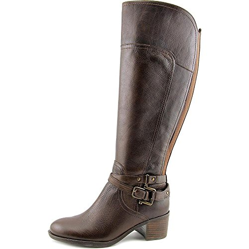 Image of Marc Fisher Kacee Wide Calf Women US 7.5 Brown Knee High Boot