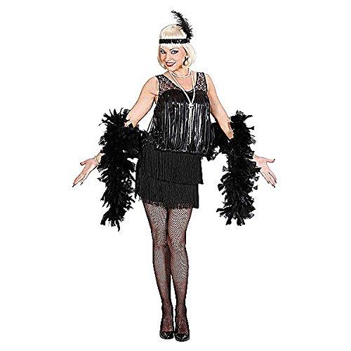 Widmann 8714F - Erwachsenenkostüm Charleston Kleid schwarz, Größe XL