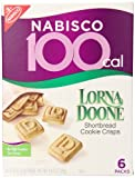 Nabisco 100 Calorie Packs, Lorna Doone Shortbread Cookie Crisps, 4.44 Ounce Box (Pack of 6)