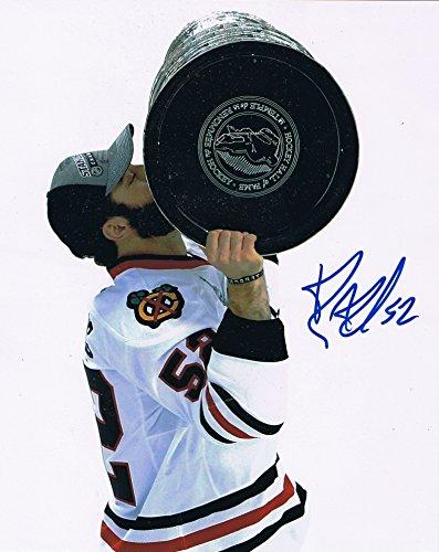 Brandon Bollig Signed 8x10 Chicago Blackhawks Stanley Cup Champion Photo COA