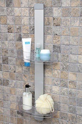 Duschregal-Duschablage-aus-hochwertigem-Aluminium-mit-zwei-Krben-Zum-Hngen-oder-zur-Wandmontage-Topp