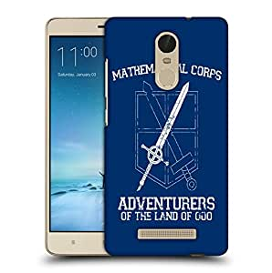 Snoogg Mathematical Corps Designer Protective Back Case Cover For REDMI NOTE 3