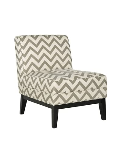 Safavieh Armond Chair, Grey/White Zig Zag