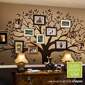 family tree wall decal chestnut brown. Black Bedroom Furniture Sets. Home Design Ideas