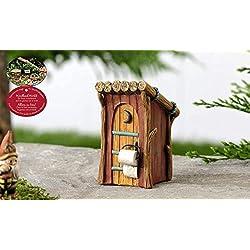 Gift Craft Woodland Mini Outhouse