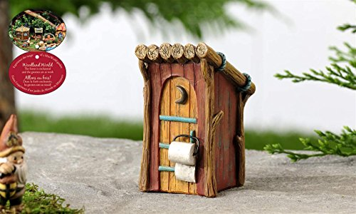 Gift Craft Woodland Mini Outhouse