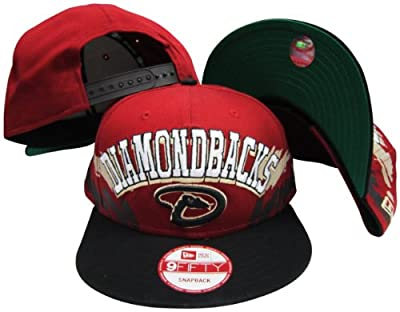 Arizona Diamondbacks Red/Black Two Tone Plastic Snapback Adjustable Plastic Snap Back Hat / Cap