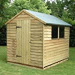 8 x 6 Pressure Treated Overlap Apex Shed