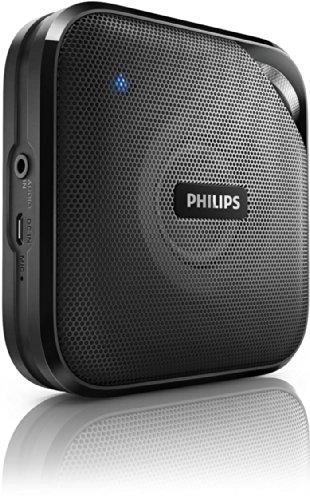 Philips BT2500B/00 Enceinte Bluetooth portable P1 avec micro et batterie intégrée noir