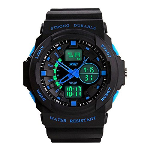 SKMEI Fashion Multi Function Waterproof Digital LCD Alarm Date Mens Military Sport Wrist LED Watch