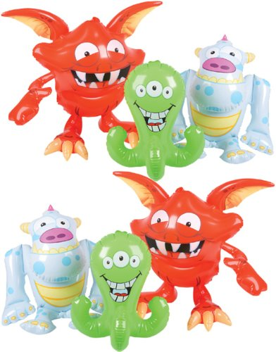 Inflatable Monster (Various - color may vary) Party Accessory