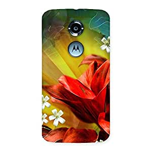 Beauty Flowers Print Back Case Cover for Moto X 2nd Gen