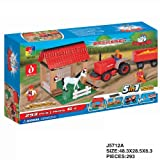 Farm Set 5in1 Animals Traitor Barn / Great Value Compatible With Top Brands (J5712A)