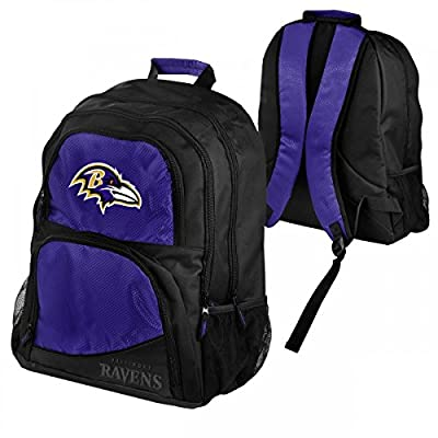 NFL Baltimore Ravens High End Backpack, Black