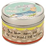 Santa Barbara Design Studio TinWick Soy Candle In Keepsake Travel Tin By Curly Girl Design Mermaid