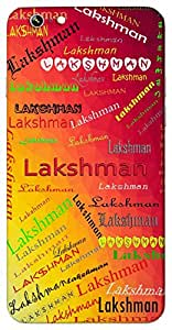 Lakshman (brother of Lord Rama) Name & Sign Printed All over customize & Personalized!! Protective back cover for your Smart Phone : Samsung Galaxy S5 / G900I